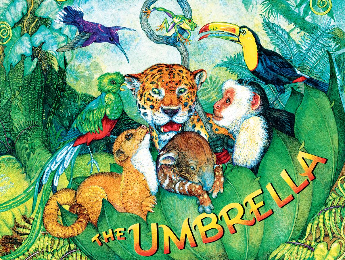 The Umbrella Jungle Animals Jigsaw Puzzle