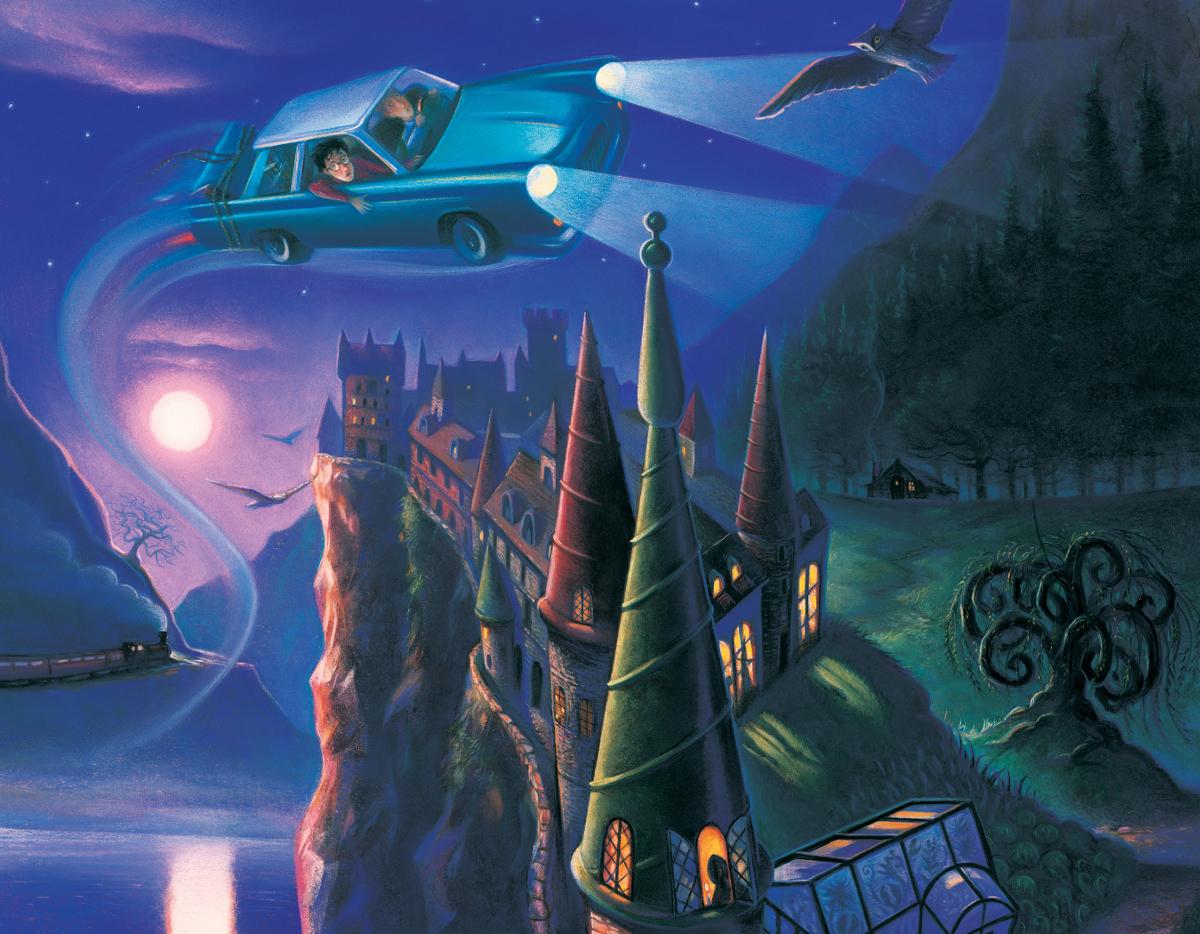 Enchanted Car (Mini) Harry Potter Jigsaw Puzzle