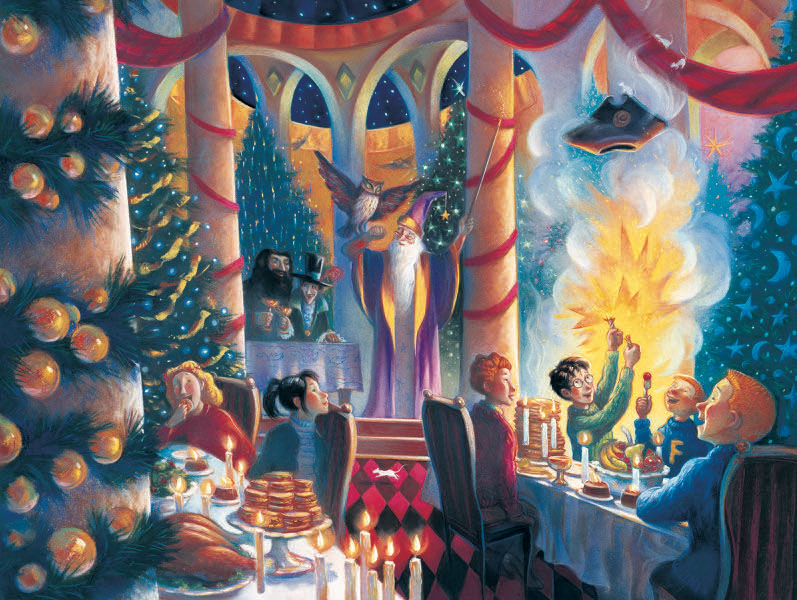 Christmas at Hogwarts (Harry Potter) Harry Potter Jigsaw Puzzle