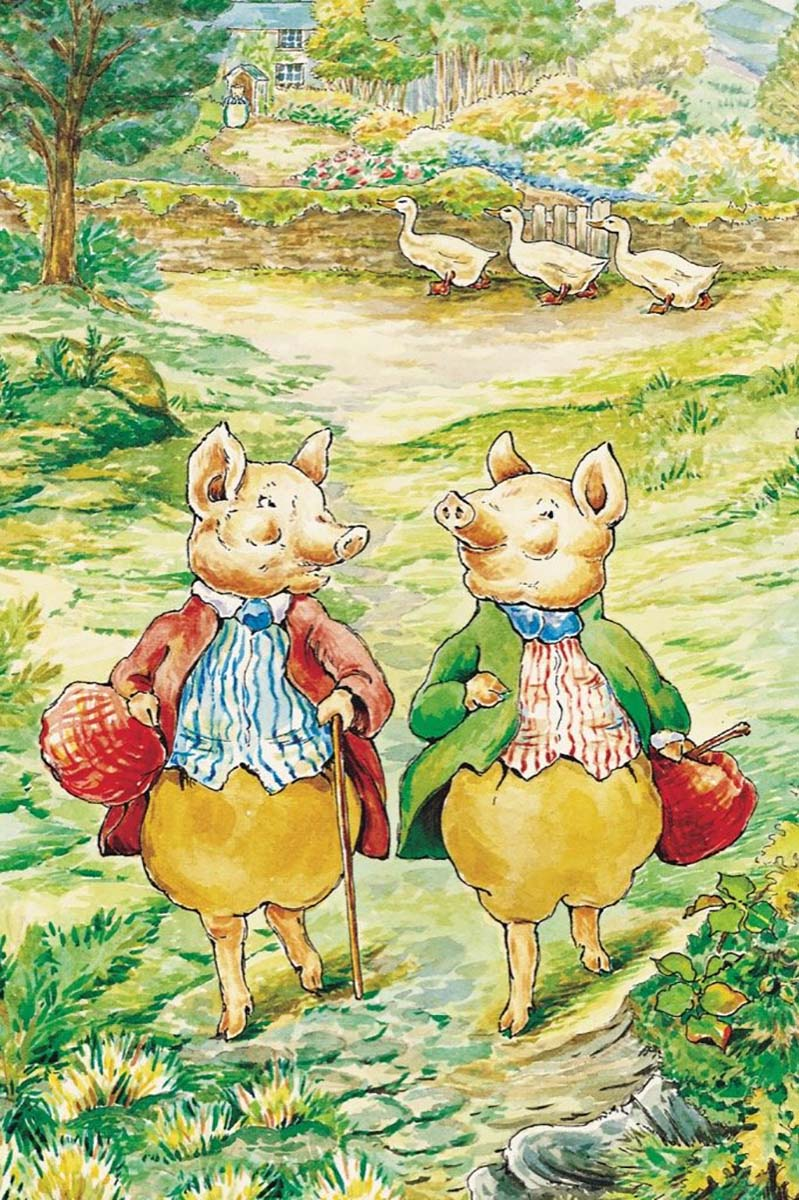Pigling Bland & Alexander (Mini) Graphics / Illustration Jigsaw Puzzle