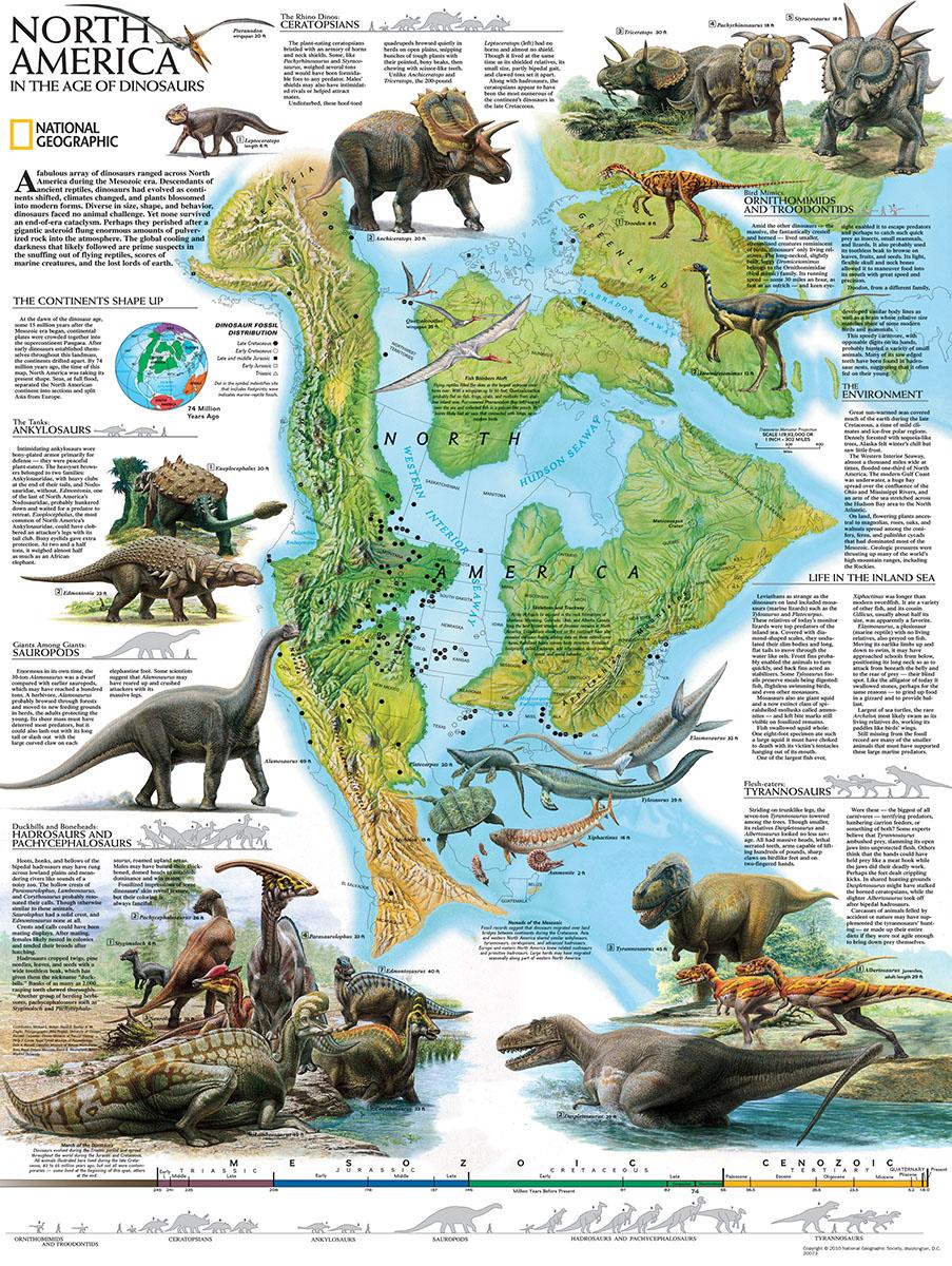 North American Dinosaurs Jigsaw Puzzle | PuzzleWarehouse.com