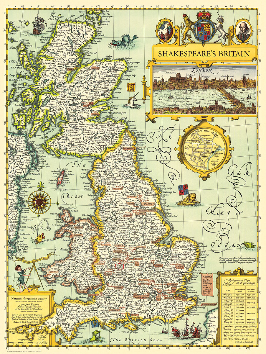 Shakespeare's Britain Maps / Geography Jigsaw Puzzle