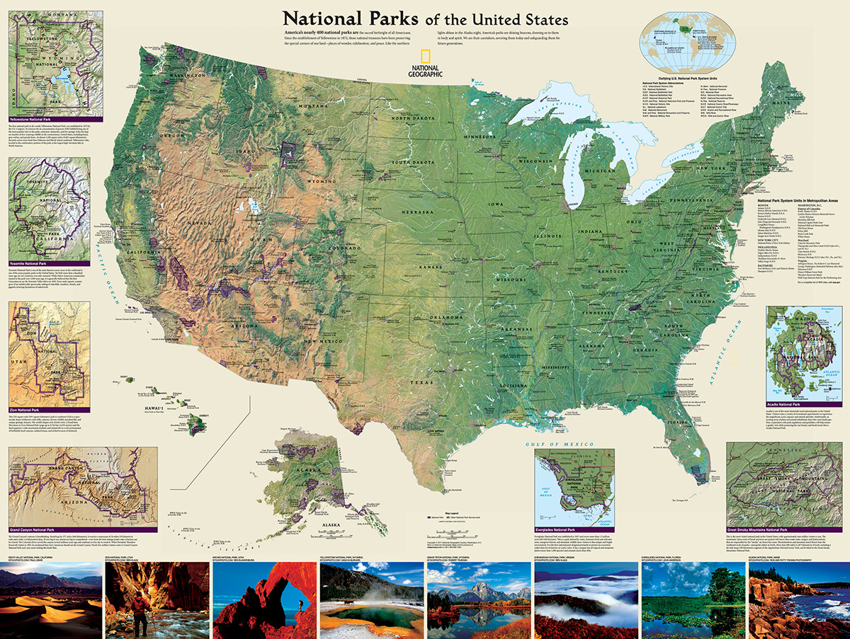 American National Parks Maps / Geography Jigsaw Puzzle