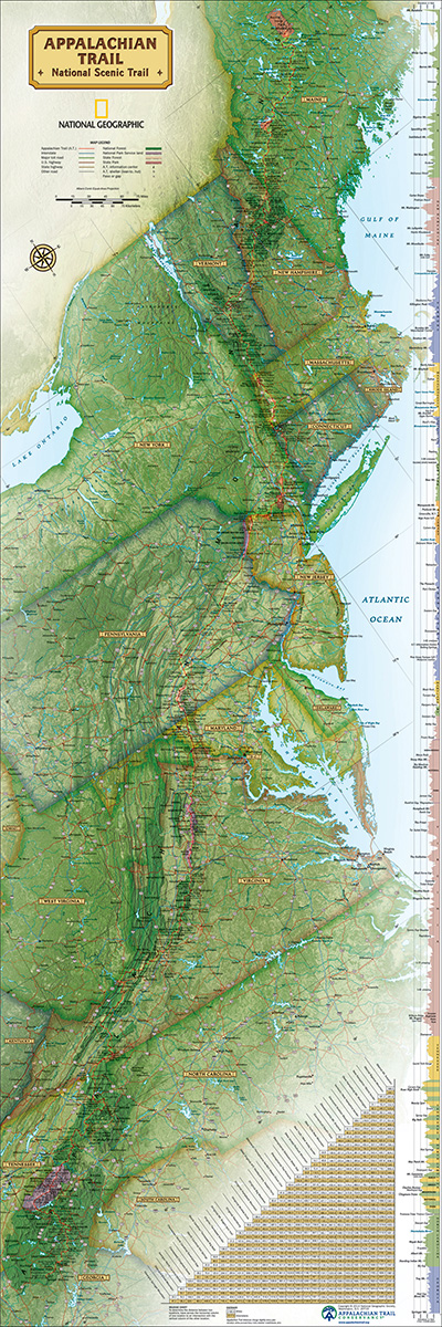 Appalachian Trail Maps / Geography Jigsaw Puzzle
