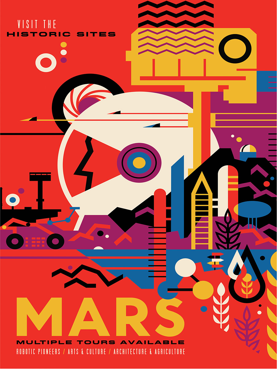 Visit Mars Space Jigsaw Puzzle