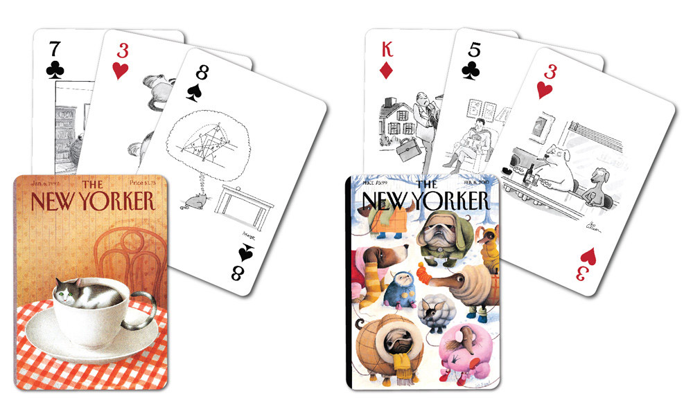 Dog and Cat Playing Cards