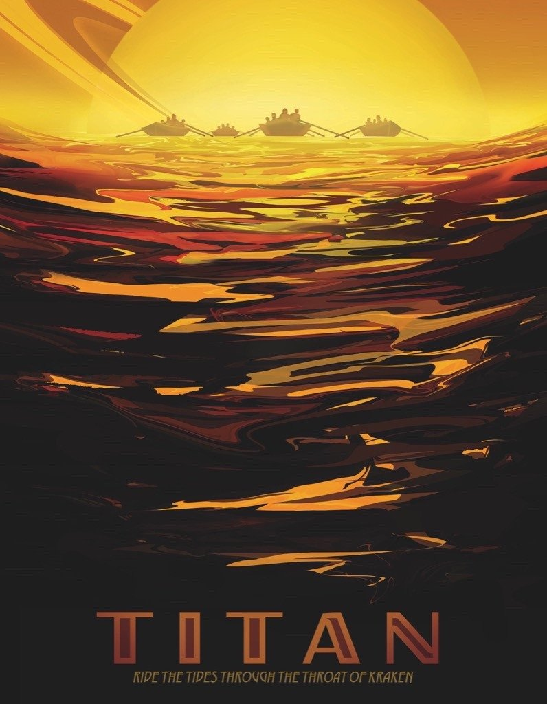 Titan (Mini) Space Jigsaw Puzzle