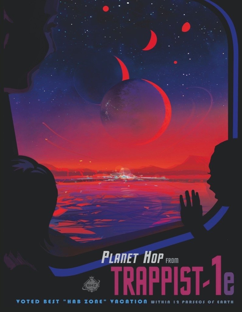 Trappist-1 (Mini) Space Jigsaw Puzzle