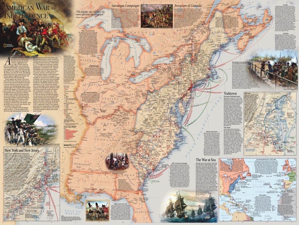 American Revolution Maps / Geography Jigsaw Puzzle
