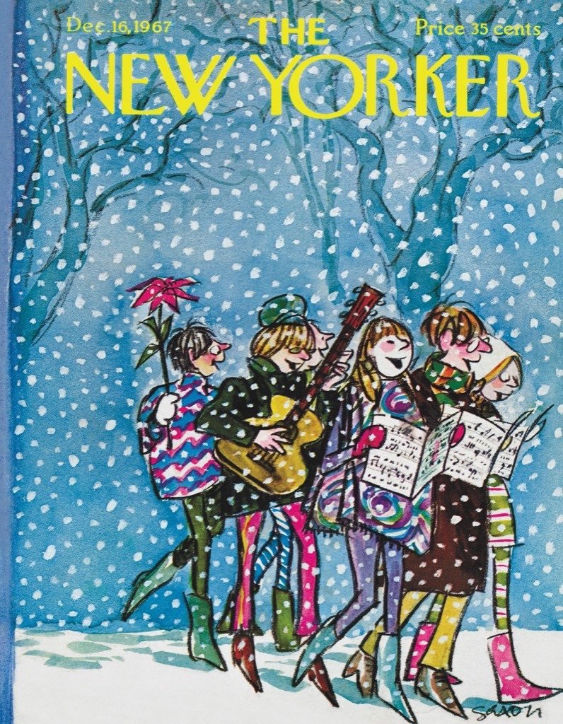 Caroling  (Mini) Winter Jigsaw Puzzle