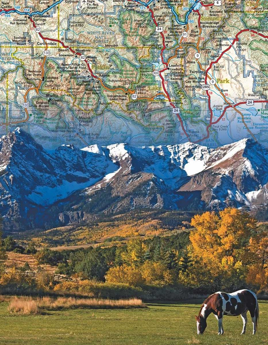Rocky Mountains (Mini) Maps / Geography Jigsaw Puzzle