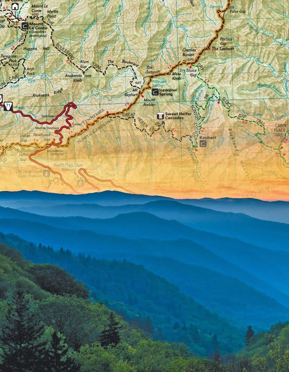 Smoky Mountains (Mini) Maps / Geography Jigsaw Puzzle