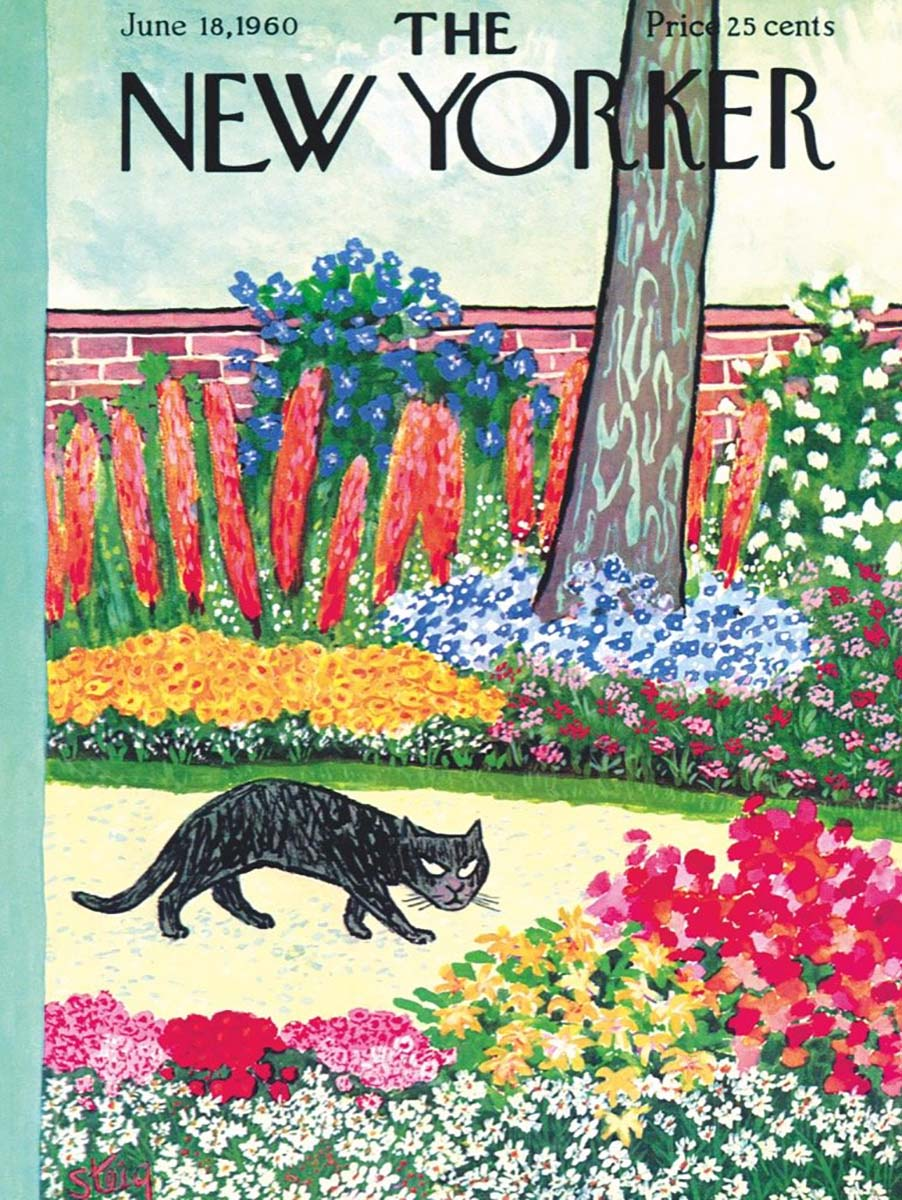 Cat on the Prowl Magazines and Newspapers Jigsaw Puzzle