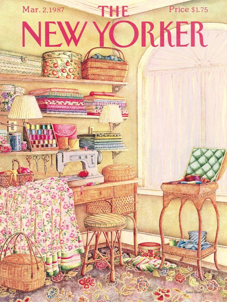 Sewing Room Magazines and Newspapers Jigsaw Puzzle