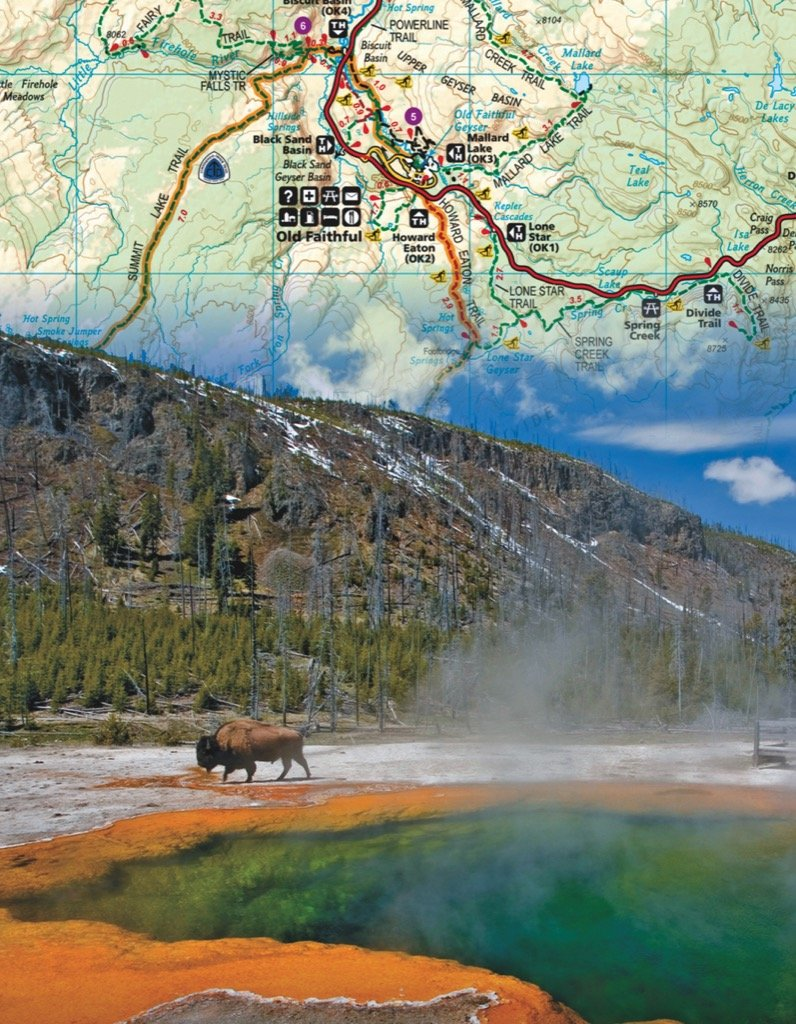Yellowstone Mini Maps / Geography Jigsaw Puzzle