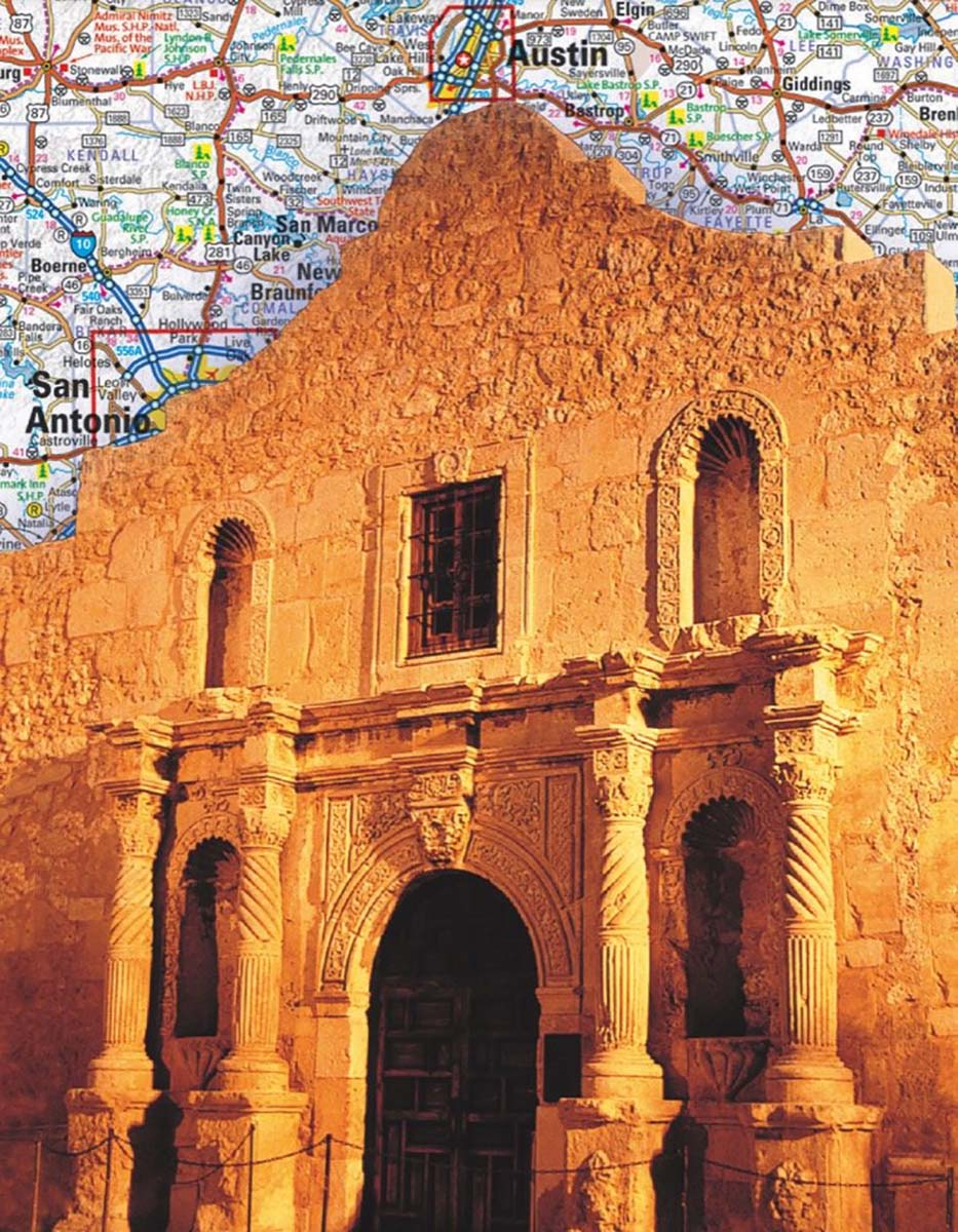 Texas (Mini) Landmarks / Monuments Jigsaw Puzzle