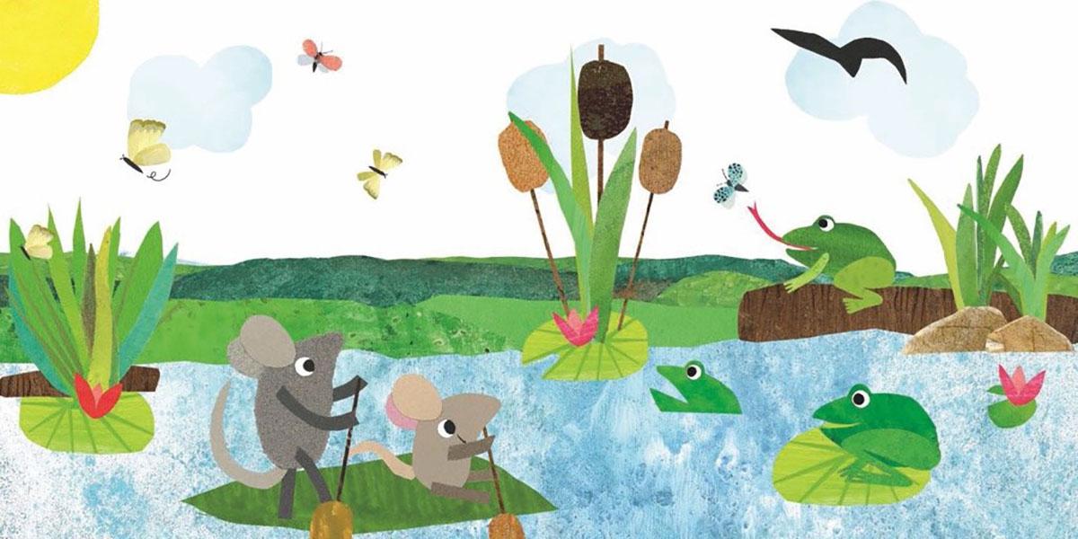 Paddling Pond Graphics / Illustration Jigsaw Puzzle