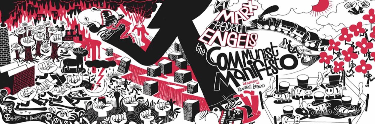 Communist Manifesto Panoramic Puzzle - 1000 Piece Movies / Books / TV Jigsaw Puzzle