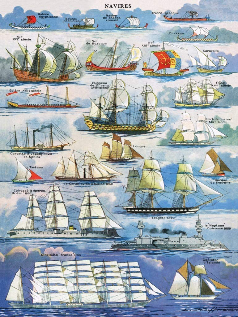 Navires ~ Ships Boats Jigsaw Puzzle