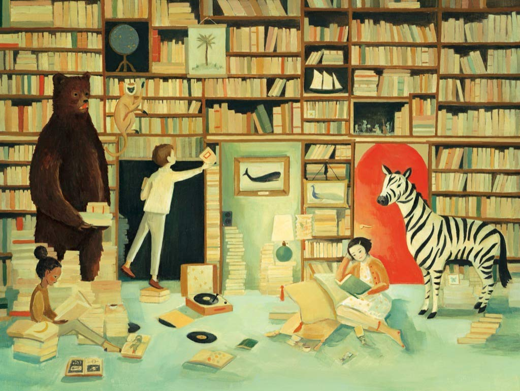 The Library Animals Jigsaw Puzzle