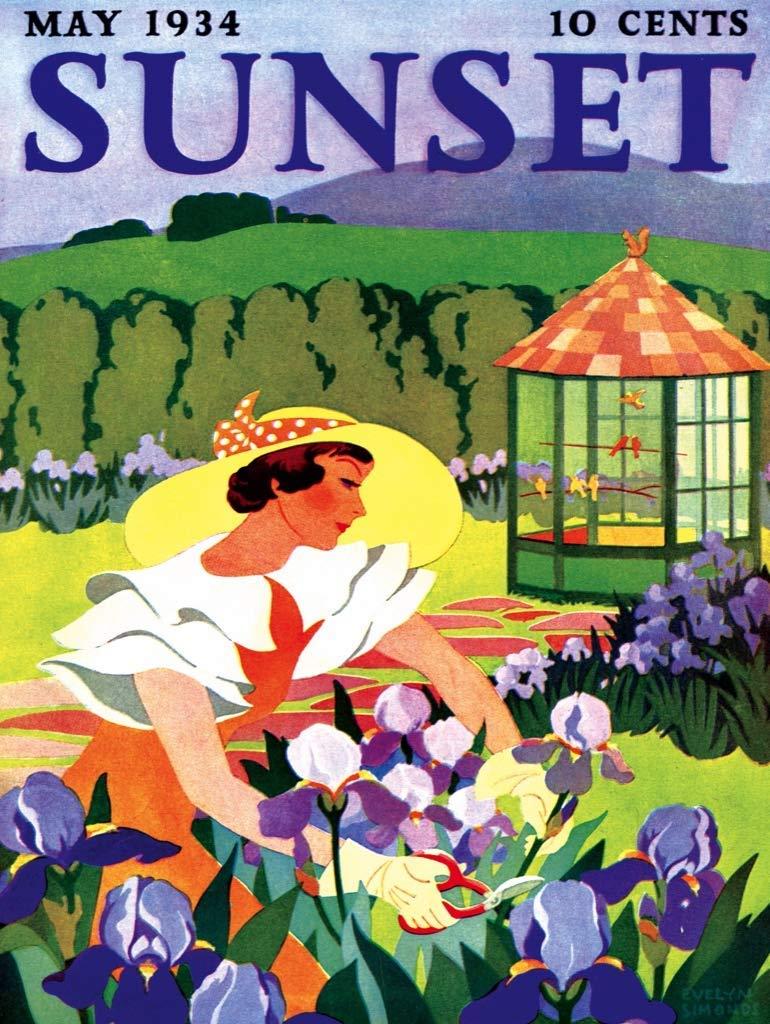 Iris Gardening Flowers Jigsaw Puzzle