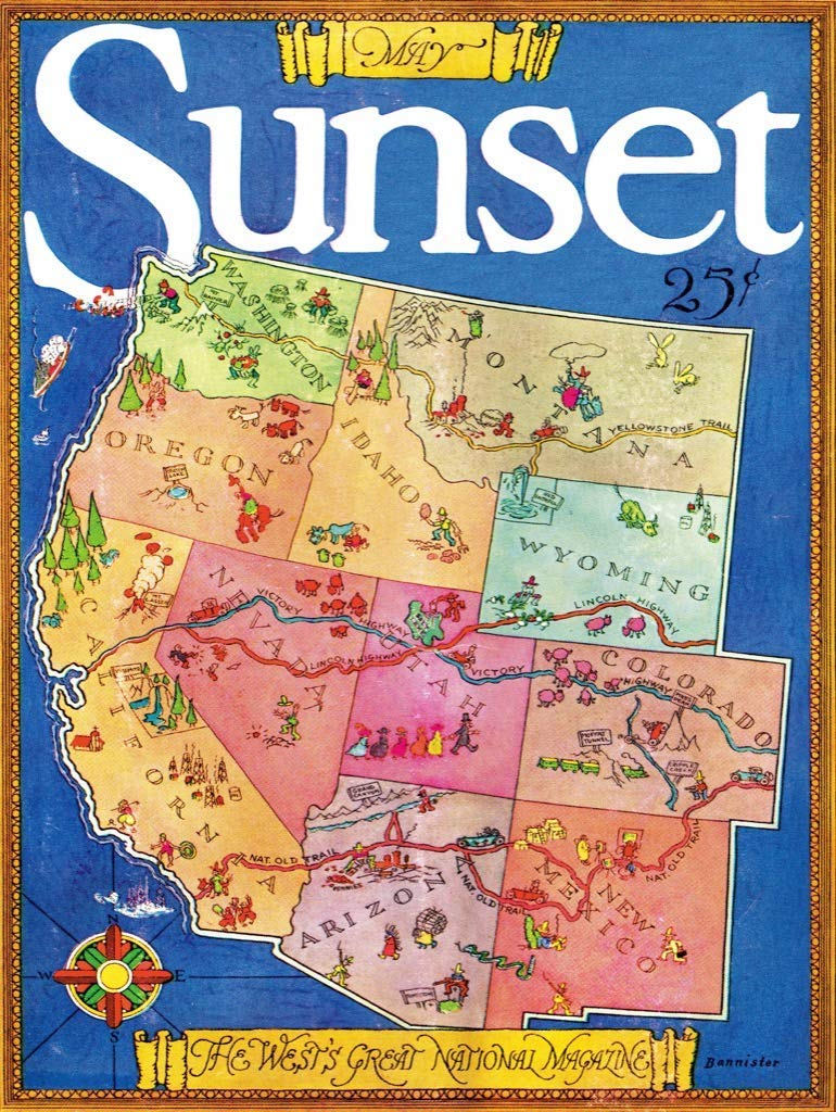 Magazine of the West Maps / Geography Jigsaw Puzzle