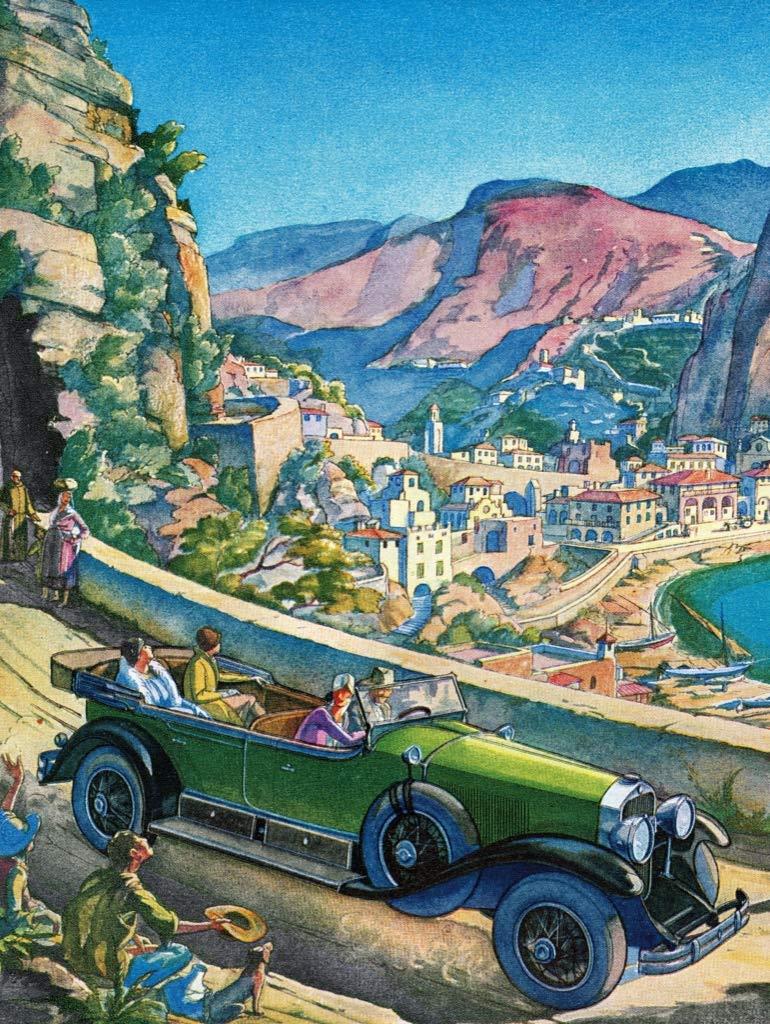 Coastal Drive Cars Jigsaw Puzzle
