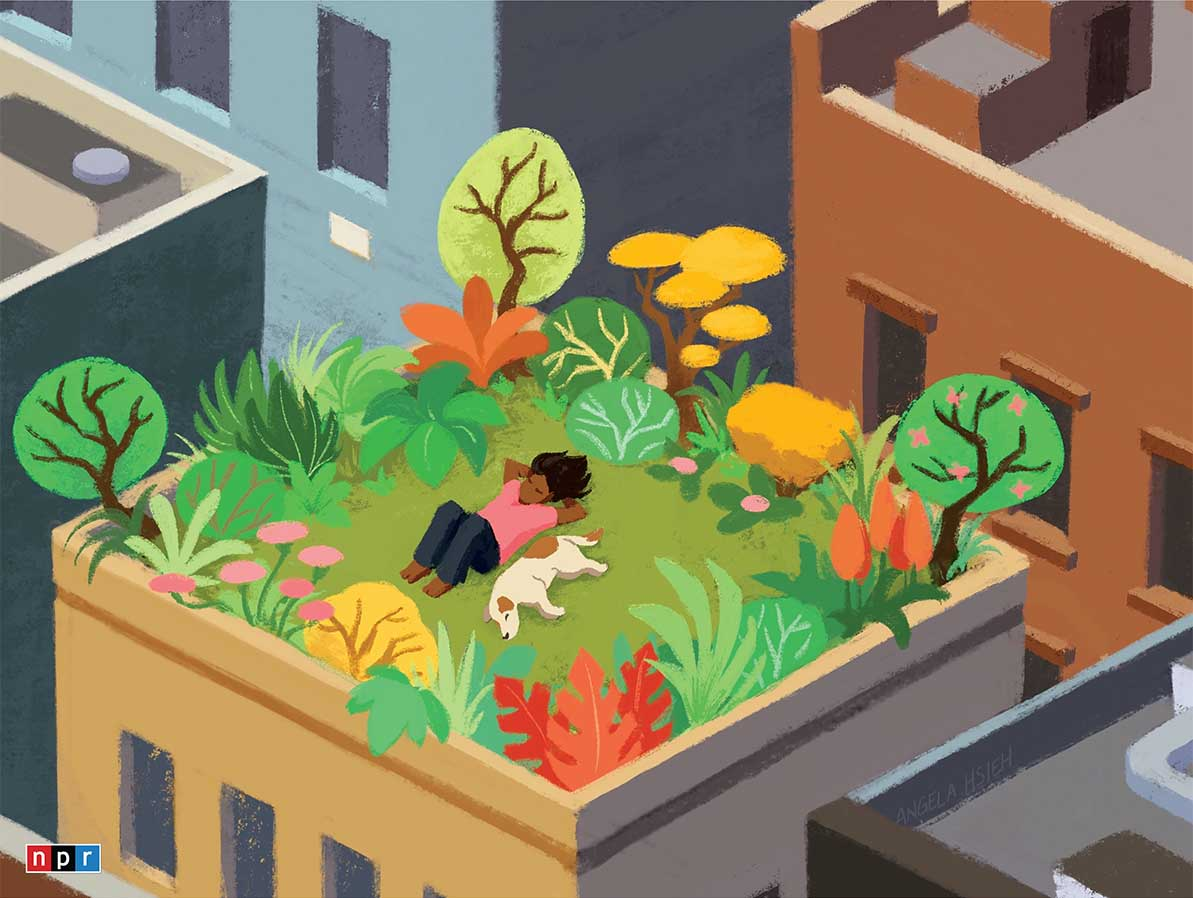 Rooftop Relaxation People Jigsaw Puzzle