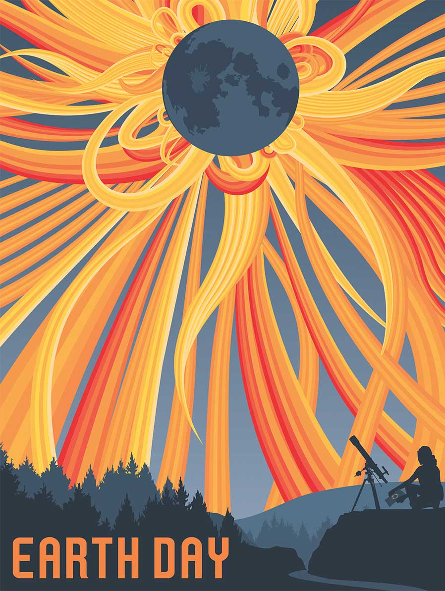 Solar Eclipse Space Jigsaw Puzzle