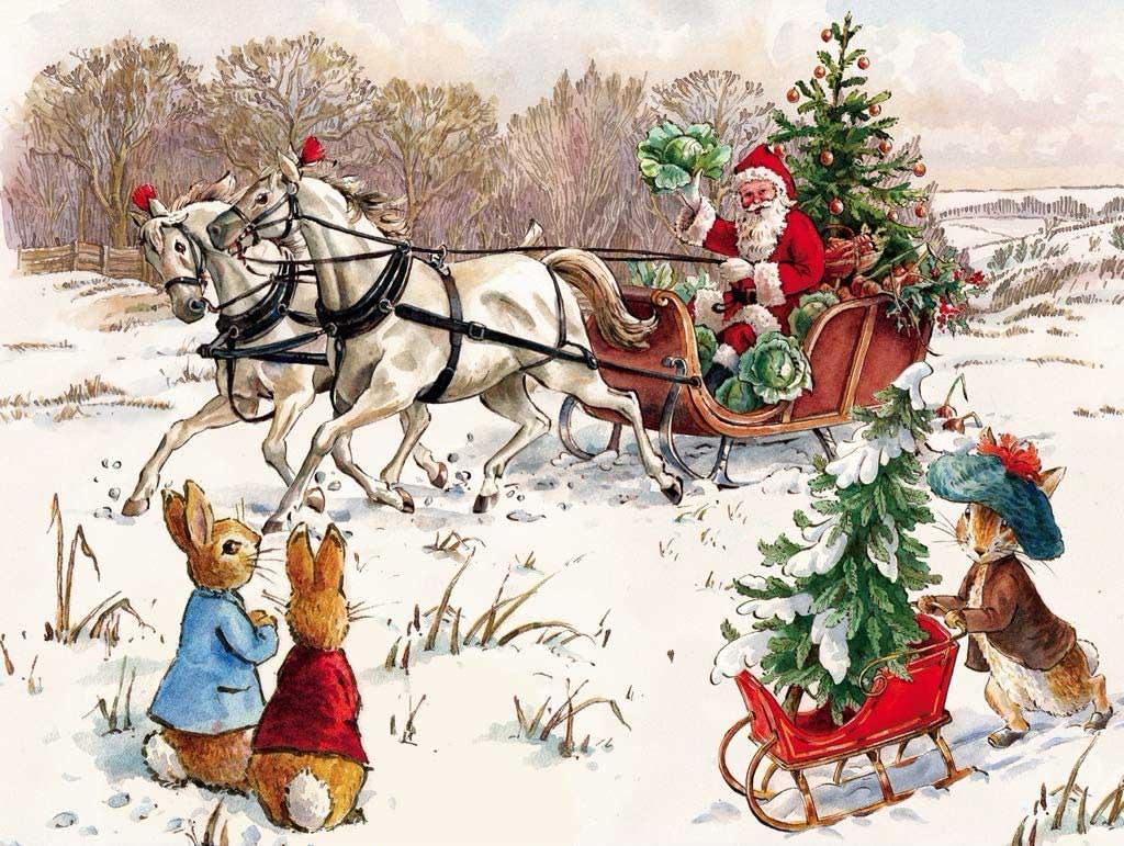 Peter Rabbit and Santa Santa Jigsaw Puzzle