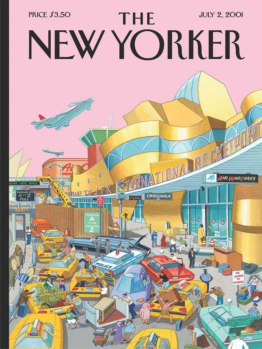 J.F.K. International Rocketport Cars Jigsaw Puzzle