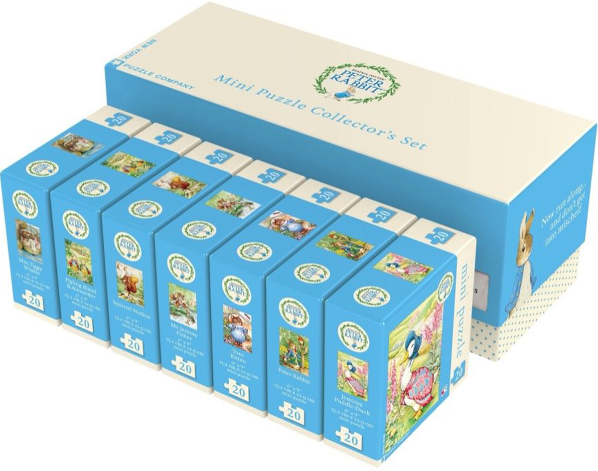 Beatrix Potter Mini Puzzle Collector's Set Movies / Books / TV Collectible Packaging