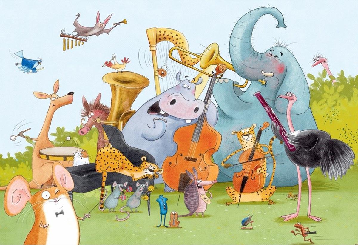 Wild Symphony Animals Jigsaw Puzzle