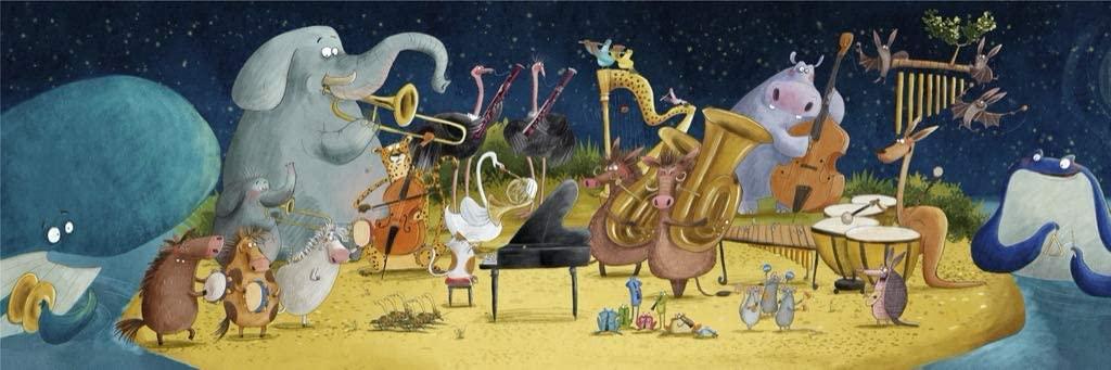 Moonlight Symphony Animals Jigsaw Puzzle
