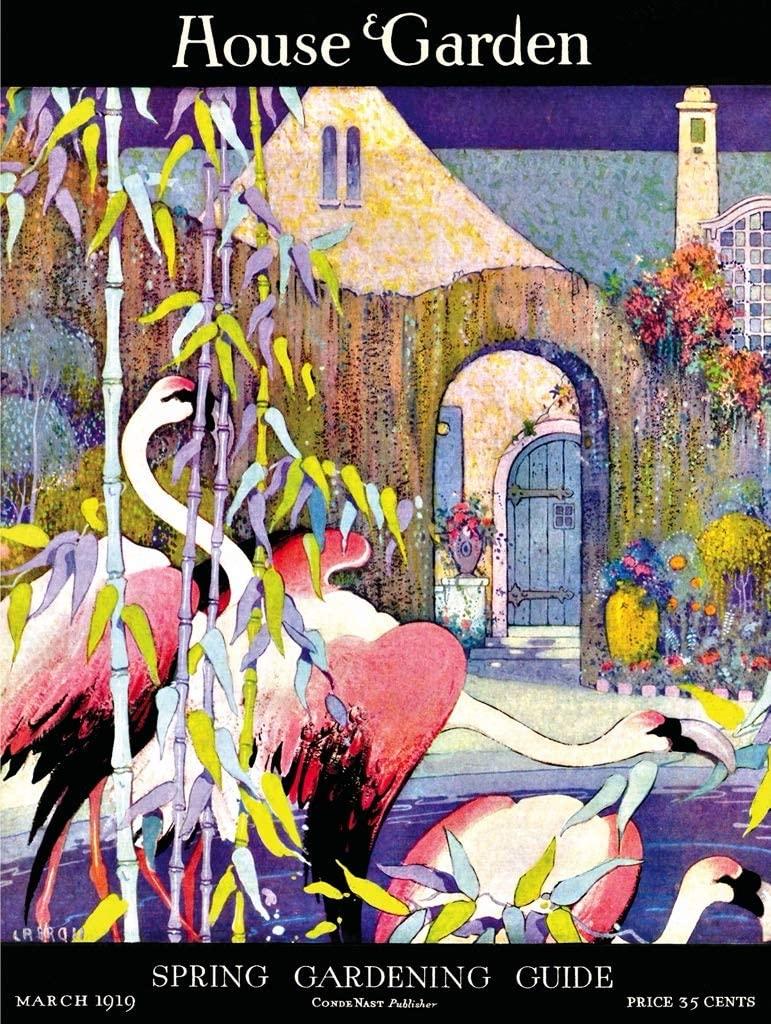 Flamingo Garden Birds Jigsaw Puzzle