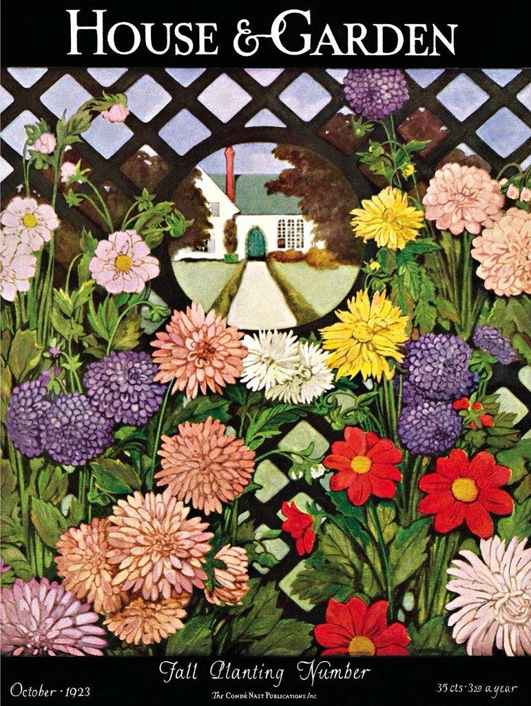 Floral Trellis Flowers Jigsaw Puzzle