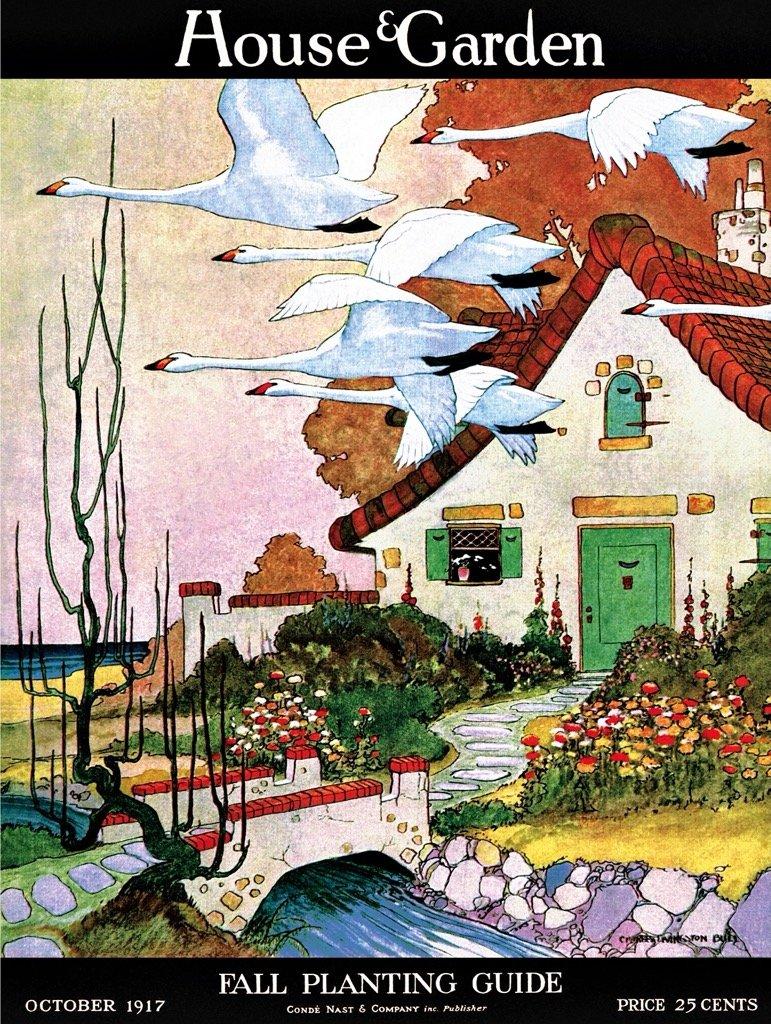 Swan Cottage Landscape Jigsaw Puzzle