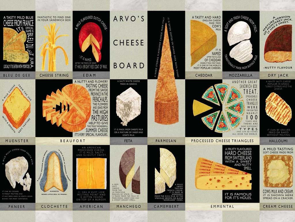 Cheese Board Movies / Books / TV Jigsaw Puzzle