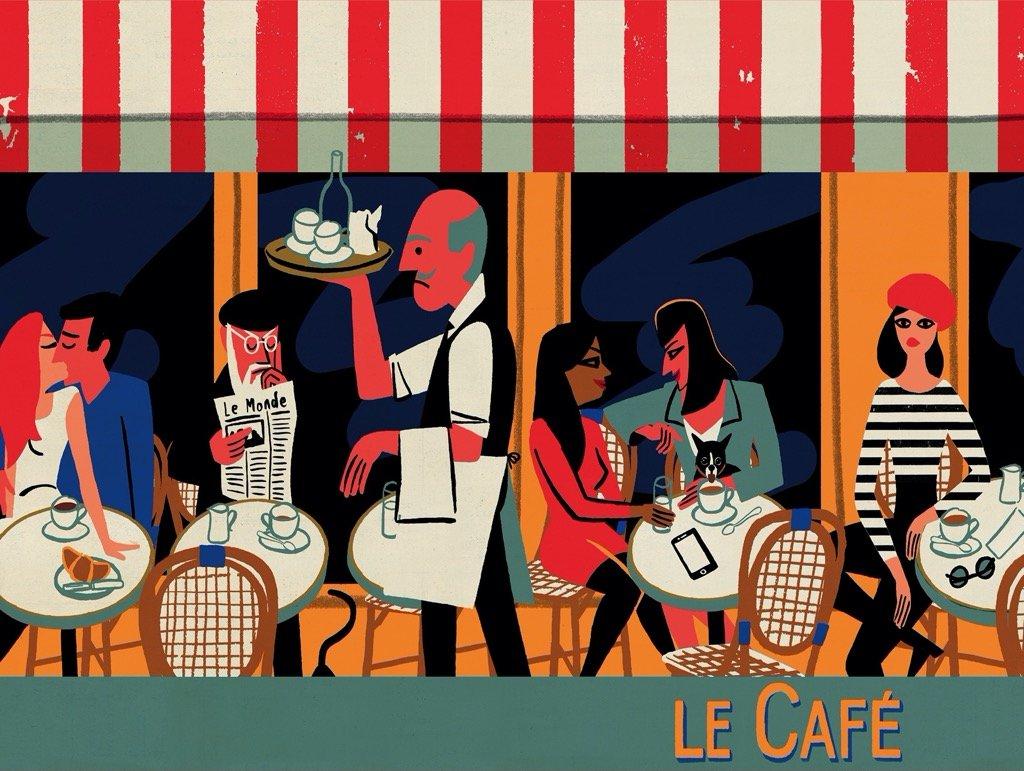 Le Café People Jigsaw Puzzle