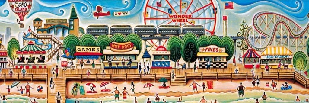 Coney Island Beach Jigsaw Puzzle