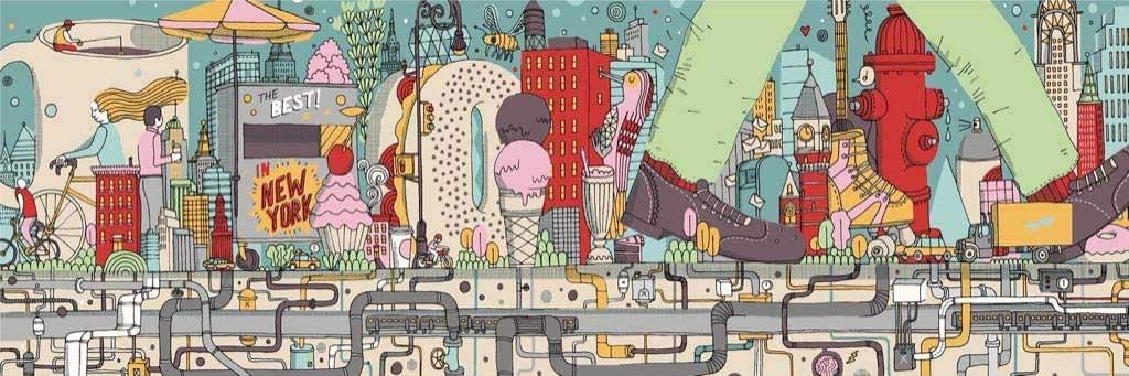 Walking New York New York Jigsaw Puzzle