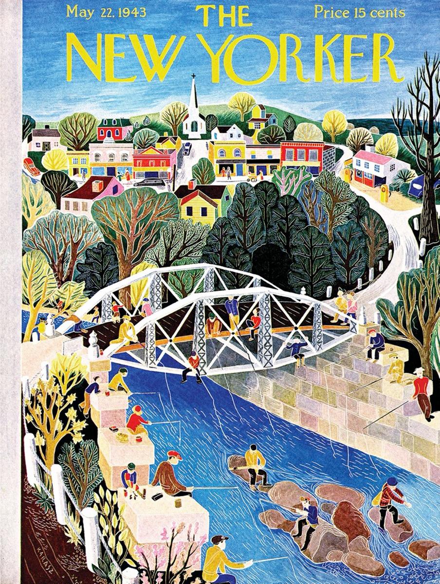 Fishing Bridge Magazines and Newspapers Jigsaw Puzzle