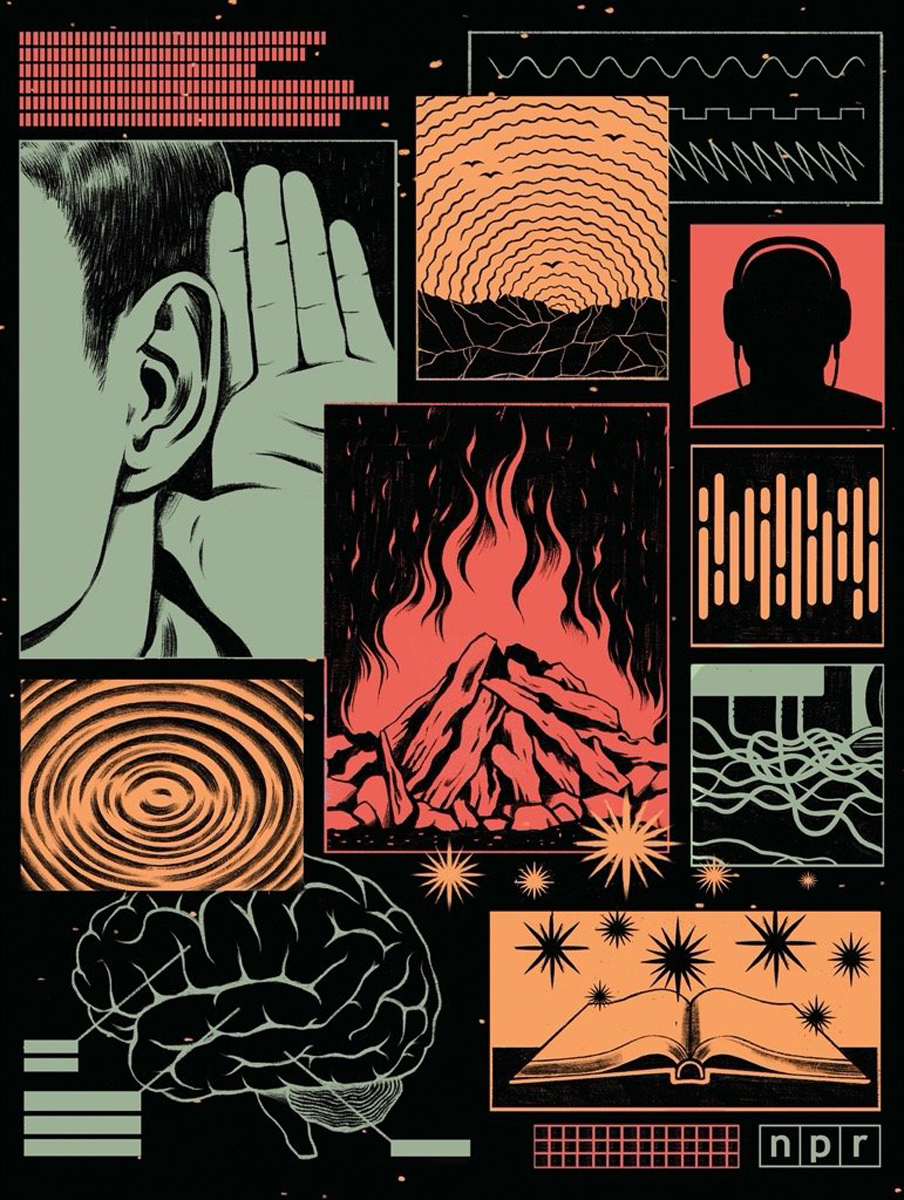 Listening Graphics / Illustration Jigsaw Puzzle