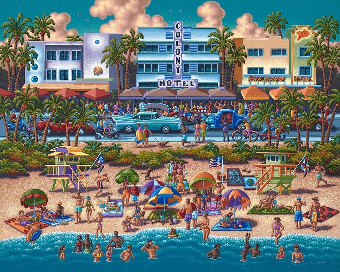 South Beach Miami Beach Jigsaw Puzzle