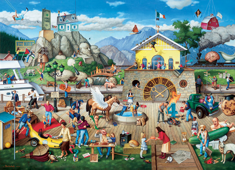 Proverbioms IV-who rocked the boat? People Jigsaw Puzzle