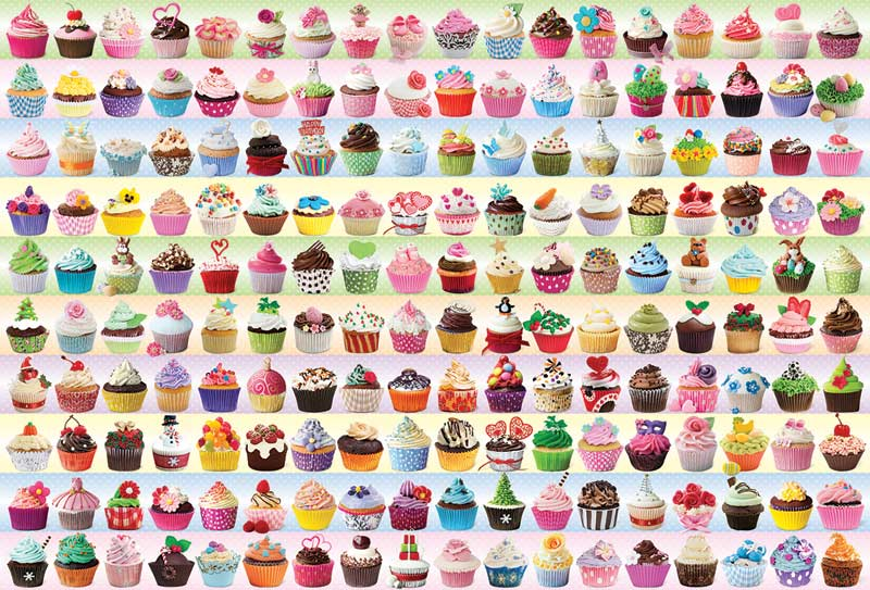 Cupcakes Galore Food and Drink Jigsaw Puzzle