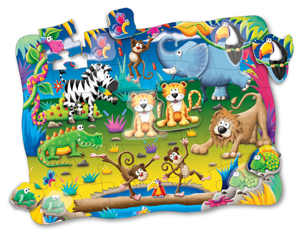 Puzzle Doubles Discover It! 3D Safari Jungle Animals Children's Puzzles