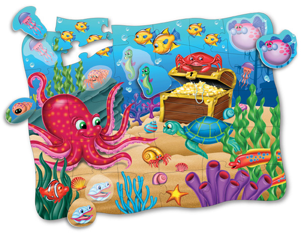 Puzzle Doubles Discover It! 3D Ocean Marine Life Jigsaw Puzzle