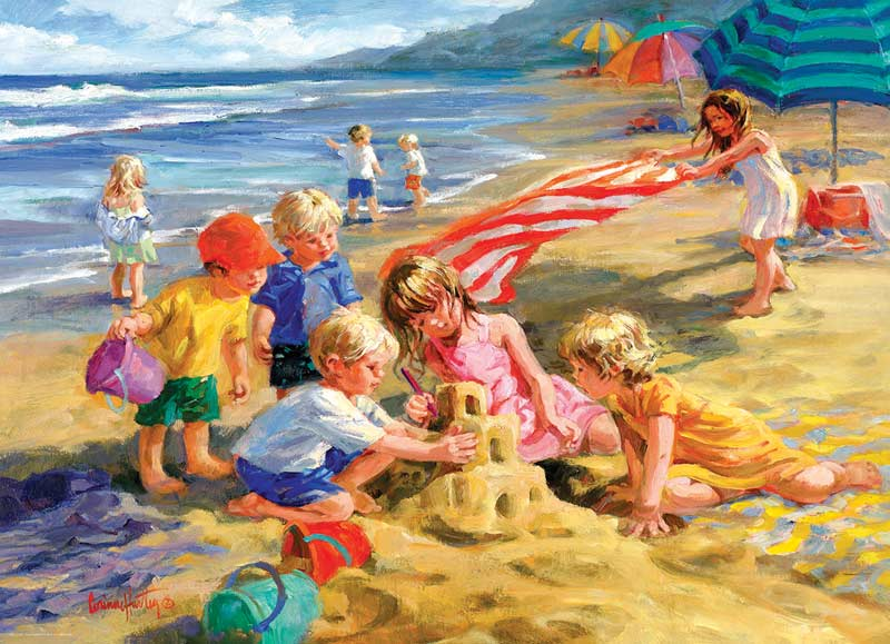 Fun in the Sun Beach Jigsaw Puzzle