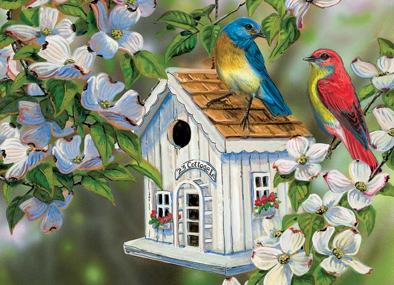 23 Cottage Lane Birds Jigsaw Puzzle